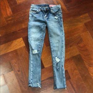Girls BlankNYC Ripped & Distressed Skinny Jeans